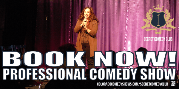 Secret Comedy Club - Book Now - Professional Comedy Show