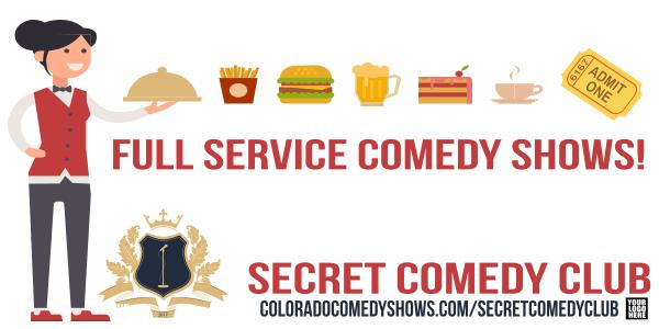 Secret Comedy Club - Full Service comedy Shows